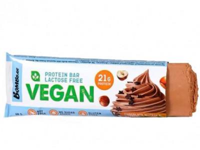 Батончик Веган протеиновый шоколадный маффин с фундуком 60г Bombbar