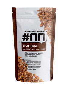 Гранола без сахара Шоколад/фундук 350г #ПП