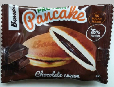 Панкейк неглазированный с начинкой Шоколадный крем 40г Bombbar
