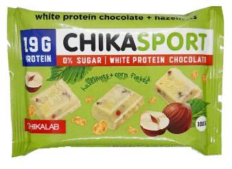 Шоколад белый Фундук/Кукурузные чипсы 100г CHIKALAB