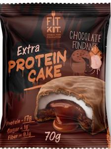 Печенье протеиновое EXTRA Шоколадный фондан 70г FitKit