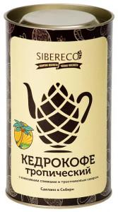 Кедрокофе Тропический с кокосовыми сливками и тростниковым сахаром Тубус 500г СИБЕРЕКО