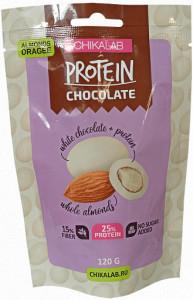Драже протеиновое Миндаль в белом шоколаде 120г CHIKALAB
