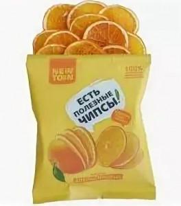 Чипсы апельсиновые 25г Newton