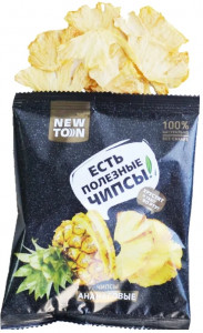 Чипсы ананасовые 30г Newton