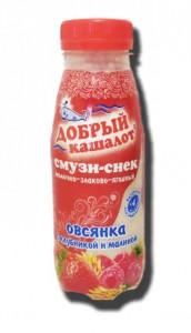 Смузи-снек молочно-злаковый клубника-малина 0,25л Добрый кашалот