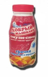 Смузи-снек молочно-злаковый персик-абрикос 0,25л Добрый кашалот