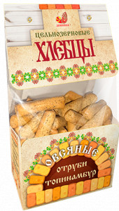 Хлебцы цельнозерновые овсяные отруби, топинамбур, стевия  220г Дивинка