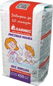 Манка Рисовая БЕЗ глютена 450г Гарнец