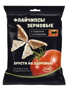 Флайчипсы зерновые с томатом и свеклой 40г Слимкоин