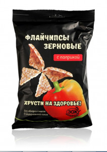 Флайчипсы зерновые с паприкой и горчицей 40г Слимкоин