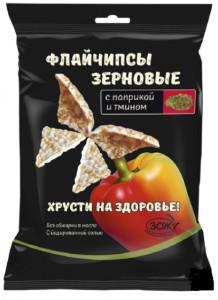 Флайчипсы зерновые с паприкой и тмином 40г Слимкоин