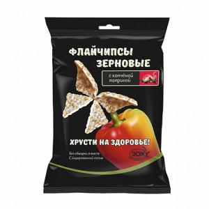 Флайчипсы зерновые с копченой паприкой 40г Слимкоин