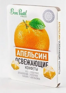 Конфеты освежающие без сахара Апельсин Fresh 12г Bon Pastil