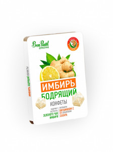 Конфеты освежающие без сахара Имбирь бодрящий Effective 12г Bon Pastil