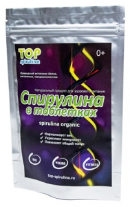 Спирулина натуральная в таблетках 250г Top Spirulina