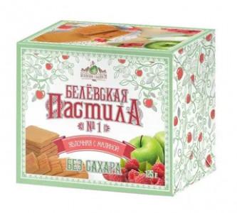 Белевская пастила Яблочная с малиной БЕЗ сахара 125гр Белевские Сладости