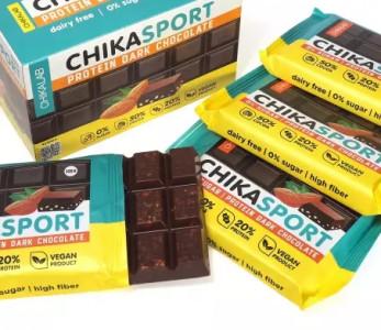 Шоколад темный с миндалем 100г CHIKALAB