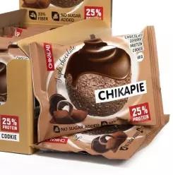 """Печенье протеиновое глазированное с начинкой """"Тройной шоколад"""" 60г CHIKALAB"""