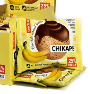 """Печенье протеиновое глазированное с начинкой """"Банан в шоколаде"""" 60г CHIKALAB"""