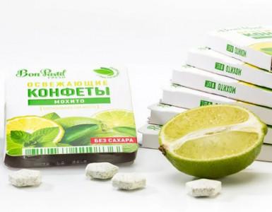 Конфеты освежающие без сахара Мохито Fresh 12г Bon Pastil