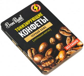 Конфеты освежающие без сахара Черный кофе Energy 12г Bon Pastil