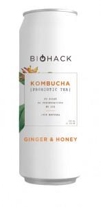 Kombucha с имбирем и медом ж/б 330мл BioHack