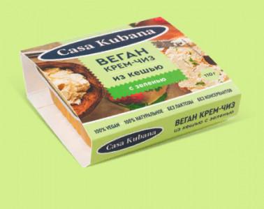 Ореховая паста Крем чиз с зеленью 110г Casa Kubana