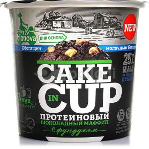 Смесь для выпечки протеиновый шоколадный Маффин с фундуком 40г Bionova