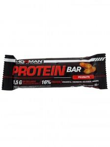 Батончик Protein Bar 16% белка арахис с коллагеном 50г IRONMAN