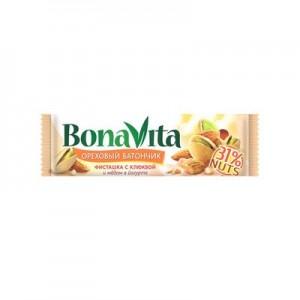 Батончик ореховый фисташка клюква и мед в йогурте 35г Bona Vita