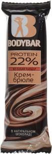 Батончик протеиновый 22% крем-брюле в горьком шоколаде 50г BODYBAR