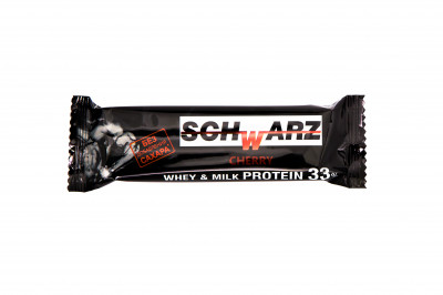 Батончик протеиновый 33% вишня с высоким содержанием протеина 50г SCHWARZ