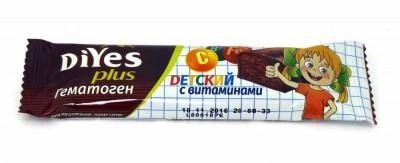 Гематоген детский с витаминами БАД 35г ДиYes