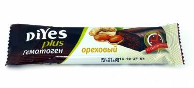 Гематоген ореховый с фруктозой БАД 35г ДиYes