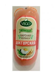 Колбаса вегетарианская вареная Докторская 500г Малика