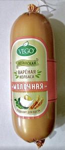 Колбаса вегетарианская вареная молочная 500г Малика