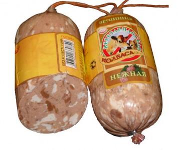Колбаса вегетарианская ветчинная нежная 400г Малика