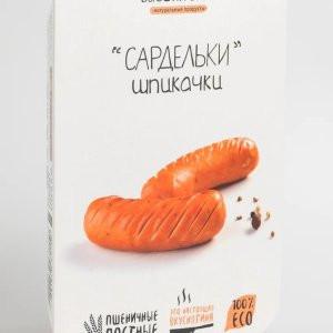 Сардельки вегетарианские Шпикачки постные 375г Высший вкус