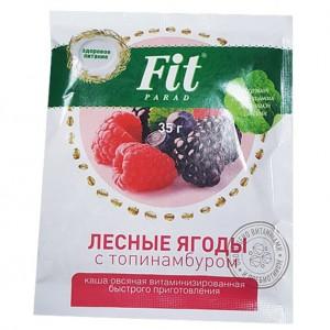 Каша овсяная витаминизированная с лесными ягодами 35г Фит-парад