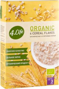 Хлопья 4-х зерновые органические 400г 4Life