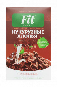 Хлопья кукурузные с шоколадом 200г ФитПарад