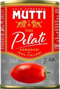 Томаты очищенные целые в томатном соке 400г Mutti