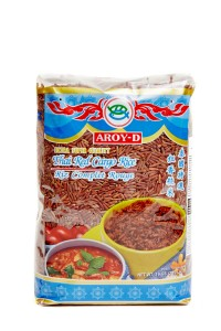 Рис тайский красный шелушеный 1кг Aroy-D
