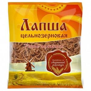 Лапша ржано-пшеничная цельнозерновая 350г Дивинка