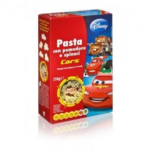 Макароны Тачки со шпинатом и томатами БИО 250г Dalla Costa