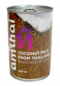 Молоко кокосовое 19-20% ж/б 0.4л Amthai