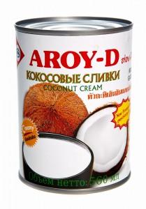 Сливки кокосовые 20-22% 560мл Aroy-D