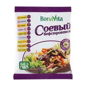 Соевое мясо Бефстроганов 80г Bona Vita