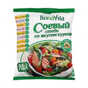 Соевое мясо Куриный стейк 80г Bona Vita